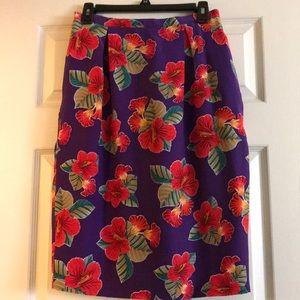 Dana Buchman silk skirt